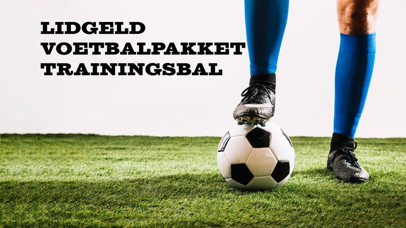 Lidgeld-voetbaluitrusting en trainingsbal