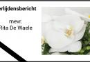 overlijdensbericht Rita De Waele