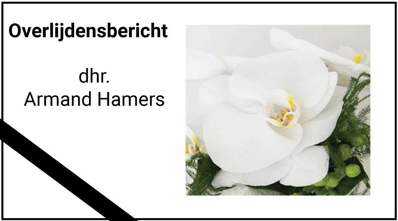Overlijdensbericht Armand Hamers