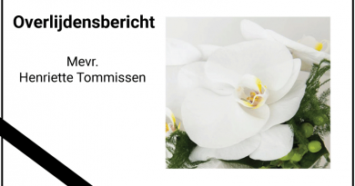 Overlijdensbericht Henriette Tommissen