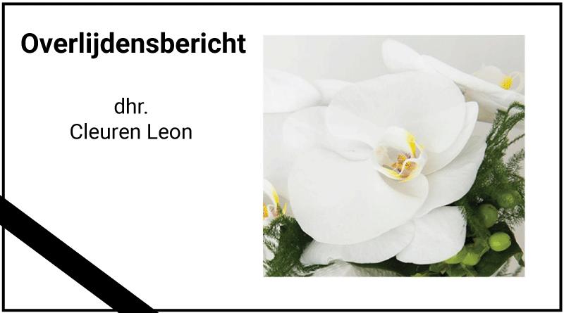 overlijden Leon Cleuren